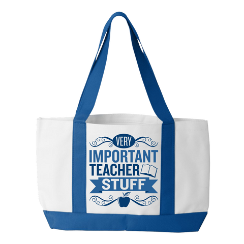 Teacher - Important Stuff - White / Royal - 1