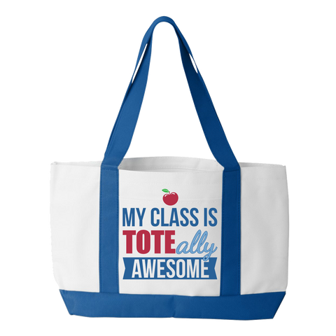 Teacher - Toteally Awesome - White / Royal - 1