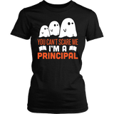 Principal - Halloween Ghost - District Made Womens Shirt / Black / S - 1