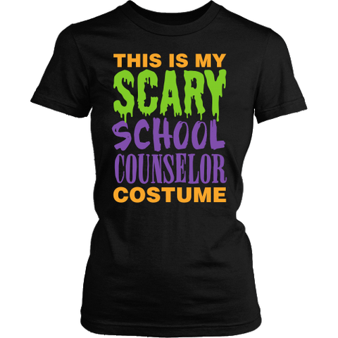 Counselor - Halloween Costume - District Made Womens Shirt / Black / S - 1