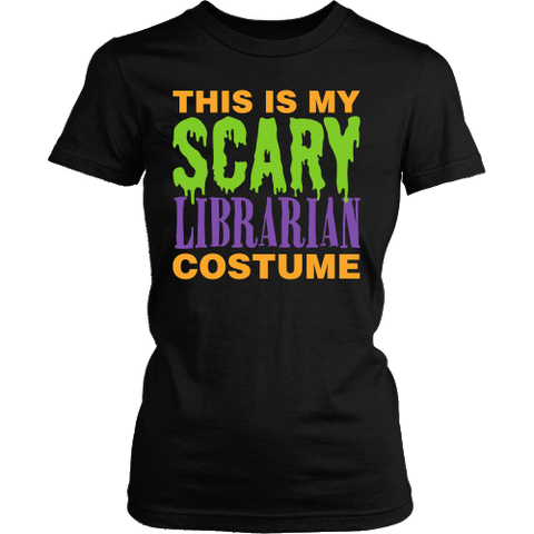 Librarian - Halloween Costume - District Made Womens Shirt / Black / S - 1
