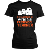 Preschool Teacher - Halloween Ghost - District Made Womens Shirt / Black / S - 1