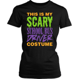 School Bus Driver - Halloween Costume - District Made Womens Shirt / Black / S - 2