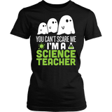 Science - Halloween Ghost - District Made Womens Shirt / Black / S - 2