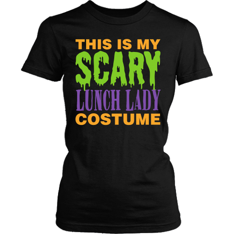 Lunch Lady - Halloween Costume - District Made Womens Shirt / Black / S - 1