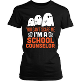 Counselor - Halloween Ghost - District Made Womens Shirt / Black / S - 1