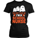 Nurse - Halloween Ghost - District Made Womens Shirt / Black / S - 1