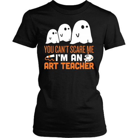 Art - Halloween Ghost - District Made Womens Shirt / Black / S - 1