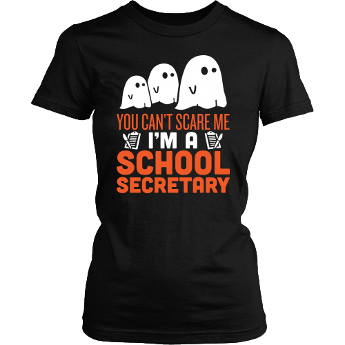 Secretary - Halloween Ghost - District Made Womens Shirt / Black / S - 1