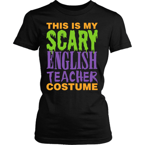 English - Halloween Costume - District Made Womens Shirt / Black / S - 1