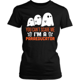 Paraeducator - Halloween Ghost - District Made Womens Shirt / Black / S - 1
