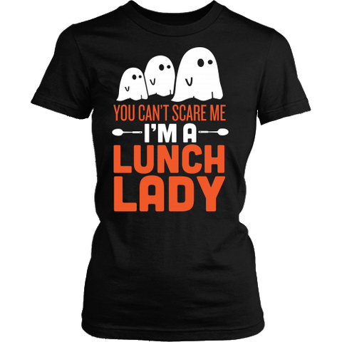 Lunch Lady - Halloween Ghost - District Made Womens Shirt / Black / S - 1