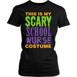 Nurse - Halloween Costume - District Made Womens Shirt / Black / S - 1