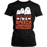 SLP - Halloween Ghost - District Made Womens Shirt / Black / S - 1
