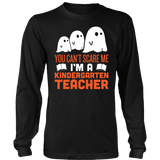 Kindergarten - Halloween Ghost - District Long Sleeve / Black / S - 3