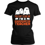 Kindergarten - Halloween Ghost - District Made Womens Shirt / Black / S - 1