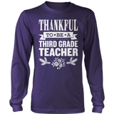 Third Grade - Thankful - District Long Sleeve / Purple / S - 3