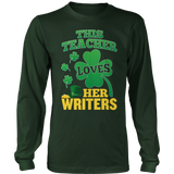 English - St. Patrick's Writers - District Long Sleeve / Dark Green / S - 8