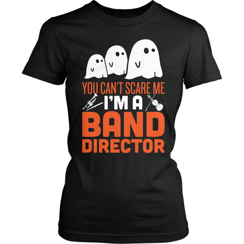Band - Halloween Ghost - District Made Womens Shirt / Black / S - 1