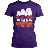 Second Grade - Ghosts - District Made Womens Shirt / Purple / S - 3