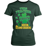 Second Grade - St. Patrick's Second Graders - District Made Womens Shirt / Forest Green / S - 4