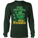 Fifth Grade - St. Patrick's Fifth Graders - District Long Sleeve / Dark Green / S - 8