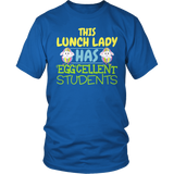 Lunch Lady - Eggcellent - District Unisex Shirt / Royal Blue / S - 5