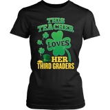 Third Grade - St. Patrick's Third Graders - District Made Womens Shirt / Black / S - 5