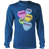 Nurse - Candy Hearts - District Long Sleeve / Royal Blue / S - 12