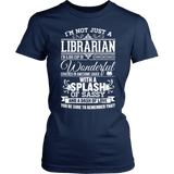 Librarian - Big Cup - District Made Womens Shirt / Navy / S - 1