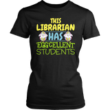 Librarian - Eggcellent - District Made Womens Shirt / Black / S - 4