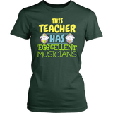 Music - Eggcellent - District Made Womens Shirt / Forest Green / S - 3
