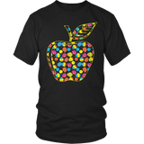 Teacher - Easter Apple - District Unisex Shirt / Black / S - 7