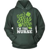 Nurse - Don't Kiss Me - Hoodie / Dark Green / S - 12