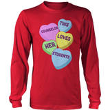 Counselor - Candy Hearts - District Long Sleeve / Red / S - 13