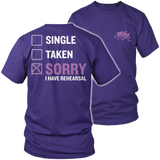 Theater - Single. Taken. - District Unisex Shirt / Purple / S - 7