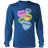 Counselor - Candy Hearts - District Long Sleeve / Royal Blue / S - 12
