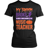 Music - My Broom Broke - District Made Womens Shirt / Black / S - 1
