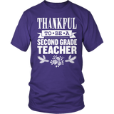 Second Grade - Thankful - District Unisex Shirt / Purple / S - 10