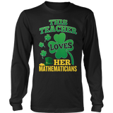 Math - St. Patrick's Mathematicians - District Long Sleeve / Black / S - 10