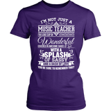 Music - Big Cup - District Made Womens Shirt / Purple / S - 3