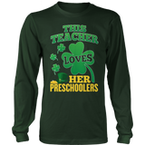 Preschool - St. Patrick's Preschoolers - District Long Sleeve / Dark Green / S - 8