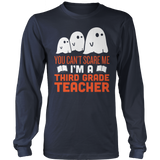 Third Grade - Ghosts - District Long Sleeve / Navy / S - 8