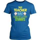 Teacher - Eggcellent - District Made Womens Shirt / Royal / S - 1