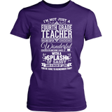 Fourth Grade - Big Cup - District Made Womens Shirt / Purple / S - 3