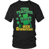 Math - St. Patrick's Mathematicians - District Unisex Shirt / Black / S - 3