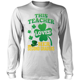 Second Grade - St. Patrick's Second Graders - District Long Sleeve / White / S - 9