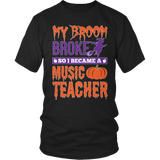 Music - My Broom Broke - District Unisex Shirt / Black / S - 4