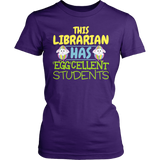 Librarian - Eggcellent - District Made Womens Shirt / Purple / S - 2