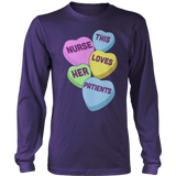 Nurse - Candy Hearts - District Long Sleeve / Purple / S - 11